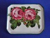 Rare Wemyss Ware 'Cabbage Roses' Comb Tray c1900